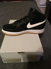 Nike Men's Air Force 1 MID 07 Sneakers Black/White Gum Bottom Size 11