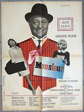 Affiche MONSIEUR Jean-Paul Le Chanois JEAN GABIN Liselotte Pulver 60x80cm