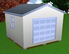 14x14 Storage Shed Plans Package, Blueprints, Material List & Instructions