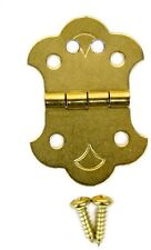 Cigar Box Guitar 4-String Brass Hinge Tailpiece with Screws & Guide - 31-62-01