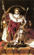Old Masters reprint (v1f191) Napoleon I on His Imperial Throne 1806 by J. Ingres