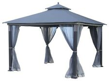 3 x 3 Gazebo Grey- New Outdoor living BBQ party, high quality steel UV protect