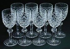 "Waterford Crystal Powerscourt White Wine Goblets 6-3/8"" Glasses Set of 8"