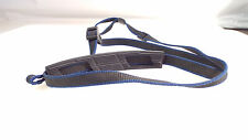 CAMERA NECK STRAP MINOLTA BLUE AND BLACK COLOR PADDED