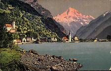 Flüelen Schweiz Switzerland Uri 1922 Bristenstock Poststempel Dresden See Berge