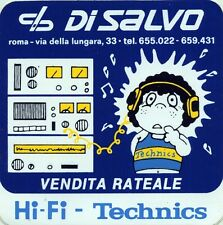 ADESIVO/STICKER * DI SALVO ROMA - VENDITA RATEALE Hi - Fi - Technics *