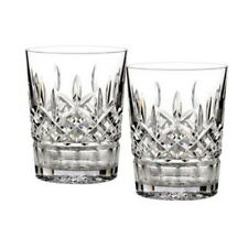 Waterford LISMORE Double Old Fashioned Glasses Tumblers DOF'S - SET / 2 - NEW!