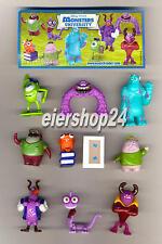 Kompl.-Satz MONSTER UNI Monsters University + 9 BPZ - Kinder Joy 2013 (D)