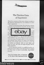 PAN AM 1962 BOEING 707 JET CLIPPER THE PRICELESS EXTRA OF EXPERIENCE #2 AD