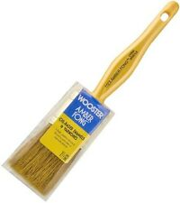 "Wooster 1.5"" Flat Amber Fong Paint Brush Natural China Bristle Oil Paint Stain"