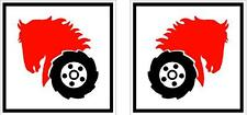 "WHEEL HORSE 2"" Square Hood Decal - Set of 2"