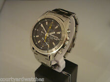 Seiko Chronograph. Black & yellow. Rare oversize model. 7T92-0LA0.  Nov '09.