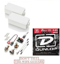 EMG P BASS WHITE  FENDER REPLACEMENT PICKUP ( 1 FREE SET OF DUNLOP BASS STRINGS)
