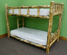 Rustic Log Bunk Bed - Twin Over Full $849.00 - Free Shipping
