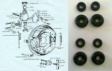 FORD Consul Capri Classic 109e REAR BRAKE WHEEL CYLINDER REPAIR SEALS KITS 61-64