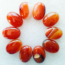 10Pcs Wholesale Red Onyx Agate Oval 25x18x7mm CAB CABOCHON M746