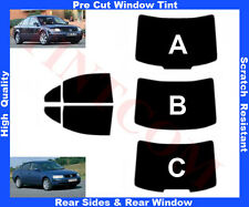 Pre-Cut Window Tint VW Passat B5 4D 1997-2005 Rear Window & Rear Sides Any Shade