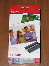 Canon Selphy Printer KP-36IP 36 4x6 Paper Set and Color Ink Cartridge