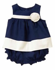 Gymboree Marina Party Navy Colorblock Rosette Set Easter Girls 18-24 months NWT