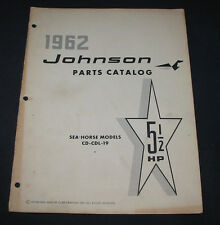 Parts Catalog Johnson Sea Horse Models CD CDL 19 5,5 HP Ersatzteilkatalog 1962!