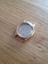 Volna & Almaz watch case gold plated Soviet watch case USSR new crystal!