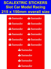 Slot car Scalextric stickers Model Race santander Logo Lego decal adhesive vinyl