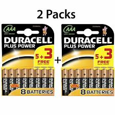 10 + 6 GRATIS AAA Duracell Plus Power Batteries Batteria Alcalina 1.5v lr03 mn2400