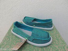 SANUK SHORTY TEAL SIDEWALK SURFER SHOES, WOMENS SIZE US 6/ EUR 37  ~NWT