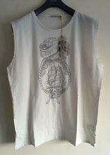 NUDIE JEANS CO CLIPPER OFF WHITE TANK TOP SIZE M RRP £40