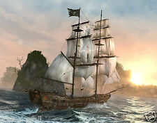 Pirate Ship  11 x 14 GLOSSY Photo Picture IMAGE #2