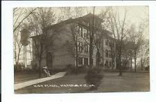 Real Photo Postcard Post Card Waterloo Wisconsin Wis Wi School