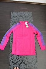 Adidas Damen Jacke Größe S Pink mit blauen Streifen Neu mit Etikett