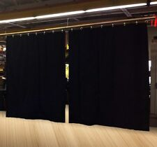 Lot of (2) New Economy Black Curtain Panel/Partition 8 H x 4½ W, Non-FR