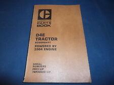 CAT CATERPILLAR D4E CRAWLER TRACTOR DOZER PARTS BOOK MANUAL S/N 28X 78P34523-UP