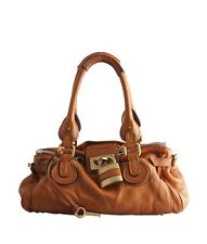 Chloe Paddington Brown Cognac Leather Satchel