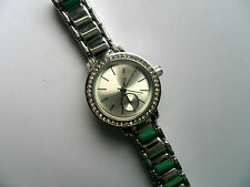 Very Smart Ladies Opia  Silver and Crystal  Faced Quartz Watch  Metal Strap