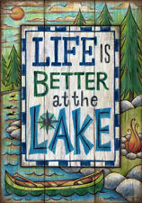 Life is Better on the Lake - FL2521 - Double Side - 28 x 40 Inch House Flag