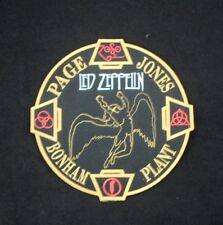 """Led Zeppelin Embroidered Big Patch Robert Plant Page Jones 7"""" for Back"""