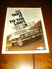 1977 CHEVROLET NOVA   ***ORIGINAL AD*** RALLY