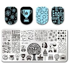 BORN PRETTY Nail Art Stamp Plate Stamping Template DIY School Time Lesson BPL-64