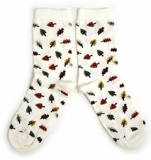 LADIES AUTUMN LEAVES FALLING SOCKS ARBORIST FALL ONE SIZE FITS ALL