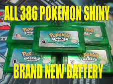 POKEMON EMERALD AUTHENTIC All 386 SHINY GAME UNLOCKED & NEW BATTERY!