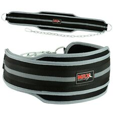 MRX Power Weight Lifting Gym Exercise Dip Belt Metal Chain Black/Grey