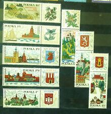 POLAND STAMPS MNH 2Fi1769-76 SC1650-57 Mi1916-23 - Tourism, 1969, clean