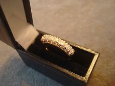 LADIES .750 18CT YELLOW GOLD DIAMOND .33ct RING 3.5g SIZE L 1/2 BOXED REF 0810