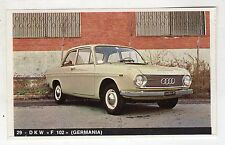 figurina - LA MIA AUTOMOBILE OGGI - N. 29 DKW F 102 (GERMANIA)