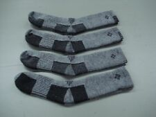 NWOT Men's USA Columbia Merino Wool Socks 4 Pair Size 10-13 Grey/Black #1002A