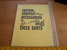 1972 Cycle Seats custom motorcycle catalog Choppers Los Angeles CA parts Honda