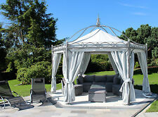 Pavillon 6-eckig Casablanca Metallpavillon Gartenlaube Metall Gazebo 4,50 m