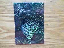 1998 LADY DEATH HOLO FOIL DESTROYER CARD # E9 SIGNED CREATOR BRIAN PULIDO, POA